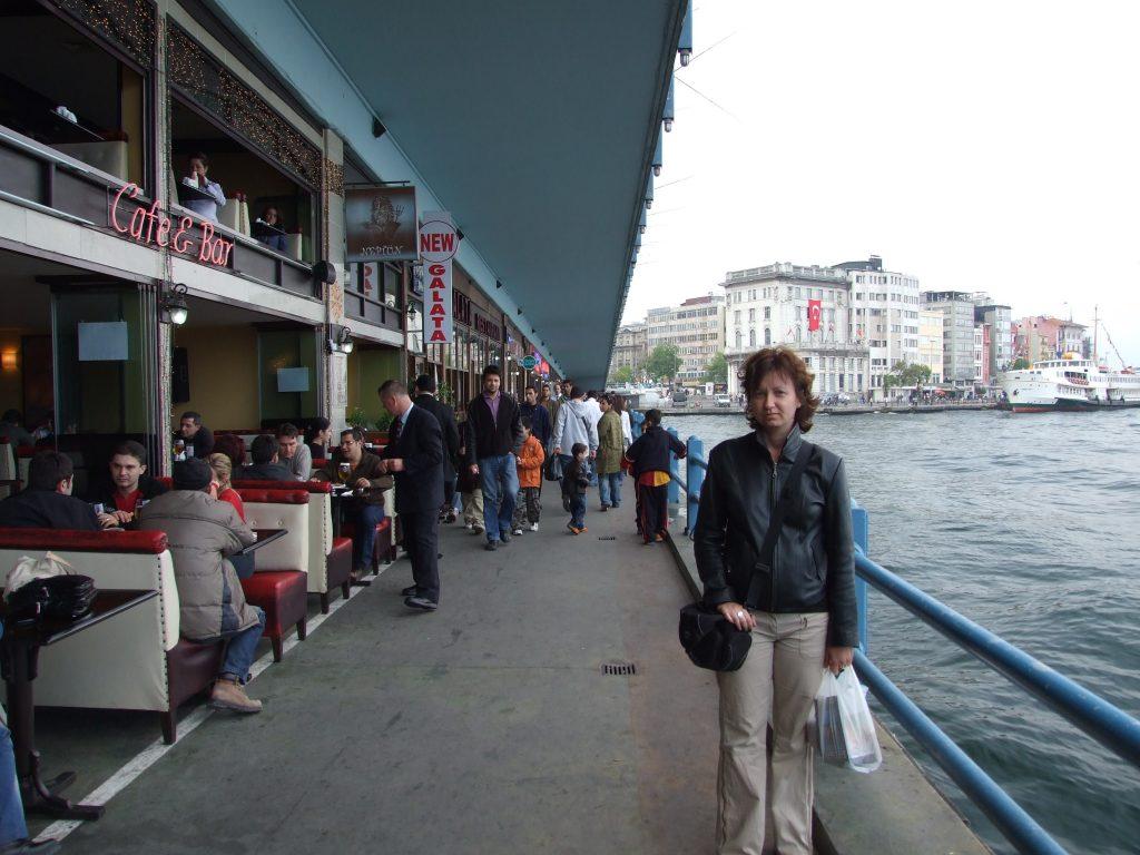 Galata Bridge in Istanbul with Restaurants