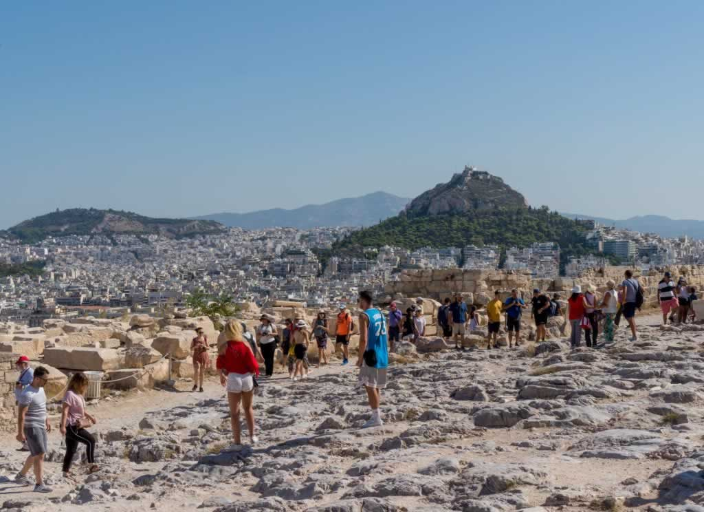 Lycabettus Hill, view from Acropolis