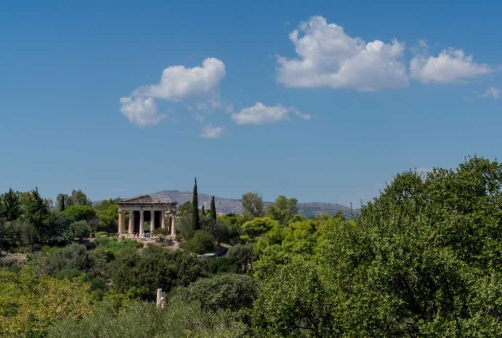 Hephaestus Temple in Ancient Agora of Greece
