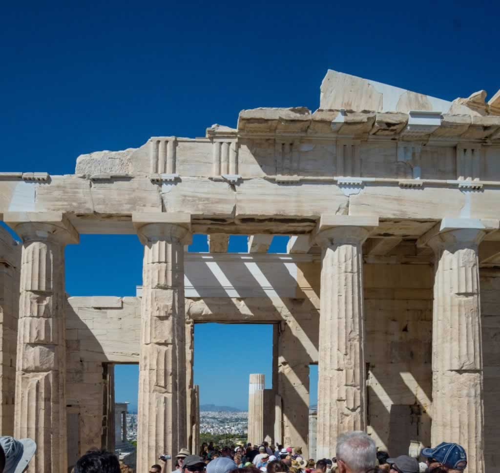 Acropolis of Athens - pillars of the entry gate