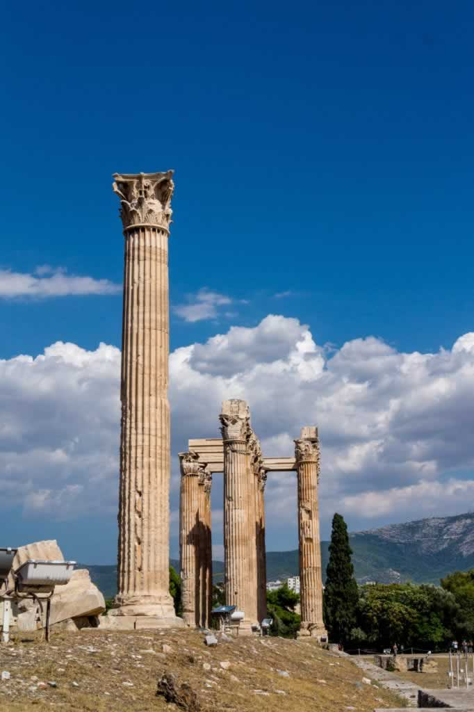 Olympian Zeus temple ruins in Athens, Greece