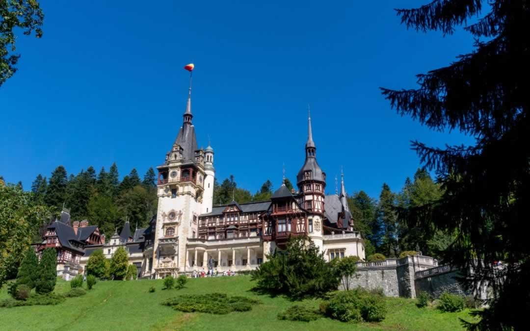 Peles Castle Sinaia Romania in the summer