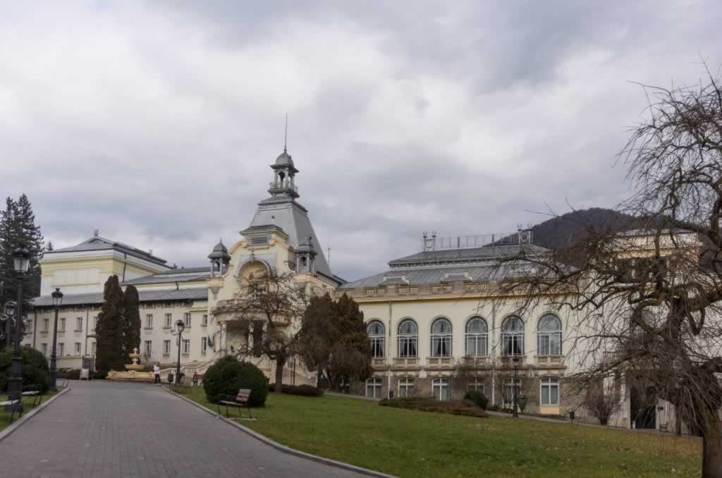 The Hotel in the central Park in Sinaia Romania