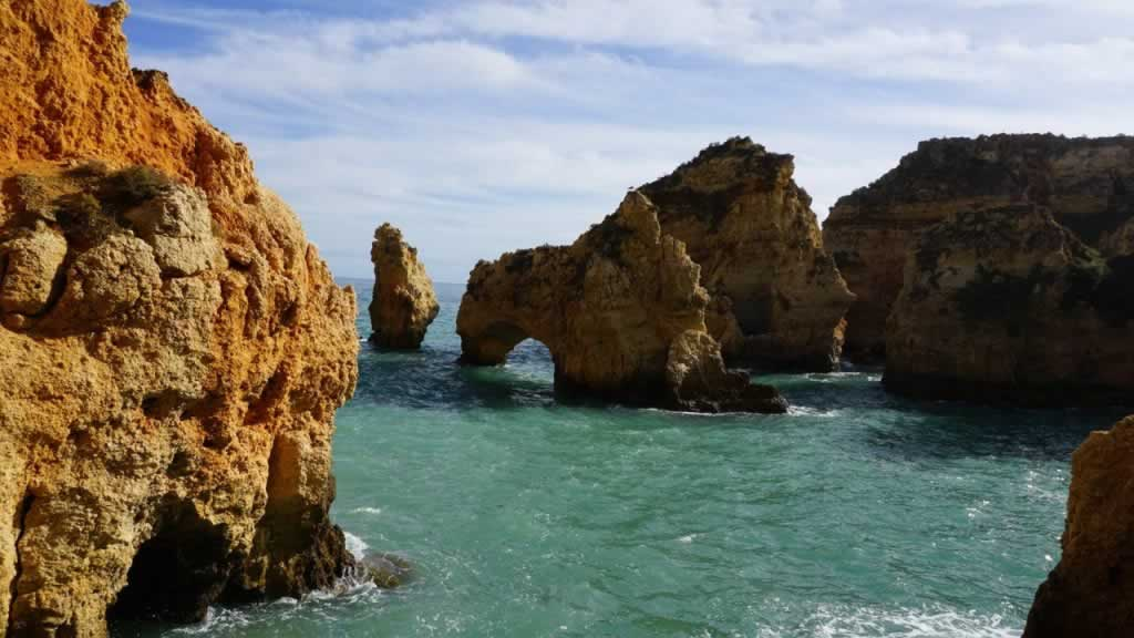 Lagos in Algarve, Portugal - rocks and sea
