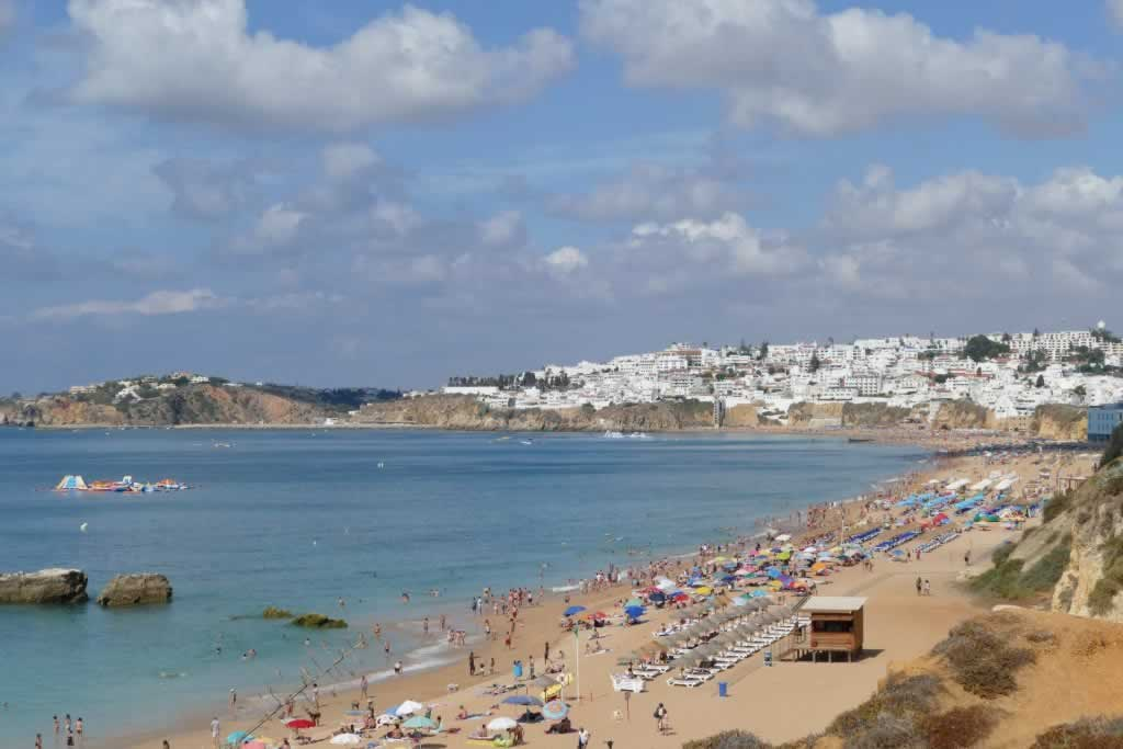 Albufeira Portugal beach and town scenery