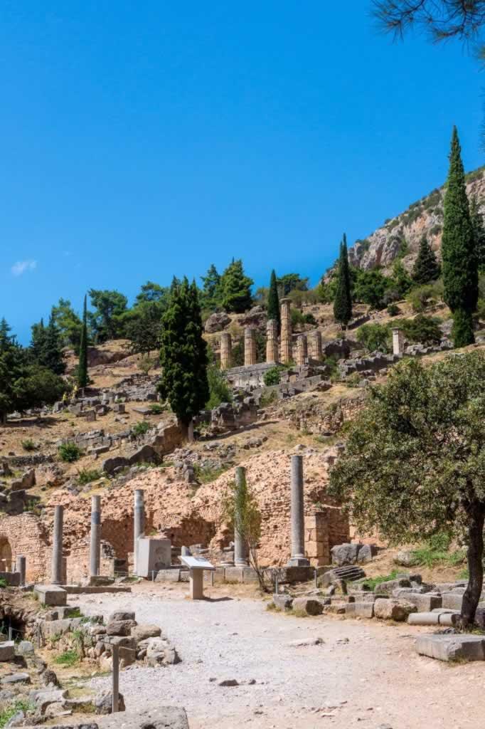 The Apollo Temple in Delphi, Greece