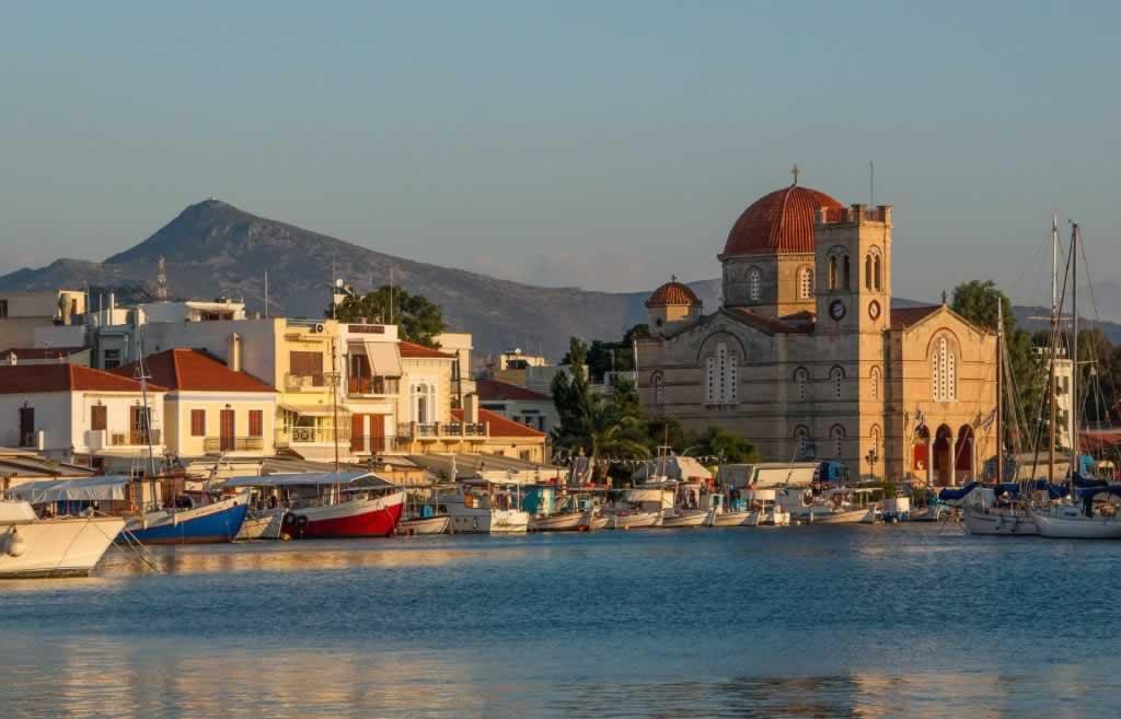 Sunset on Aegina Island, Greece