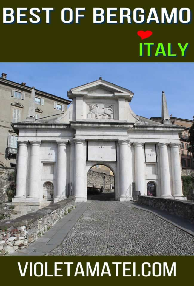 Bergamo Italy - one of the gates of Citta Alta