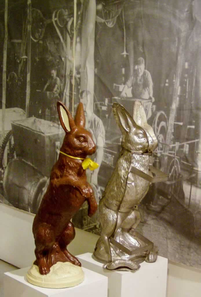 chocolate bunny mold Alprose Switzerland