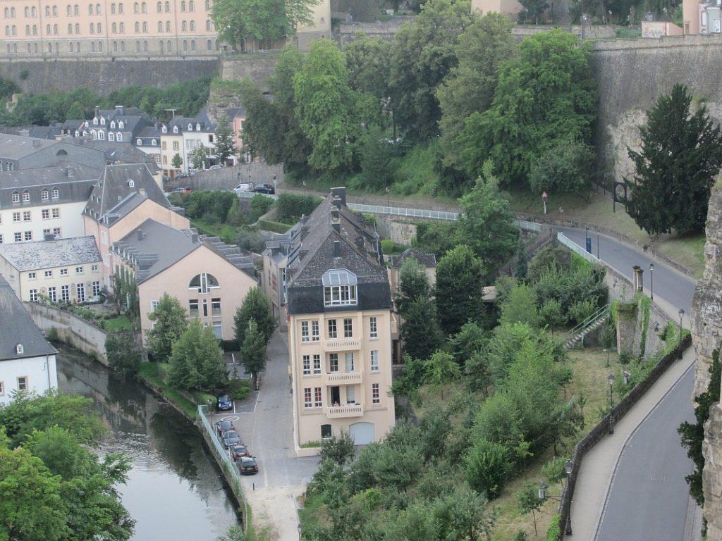 Grund city in Luxembourg