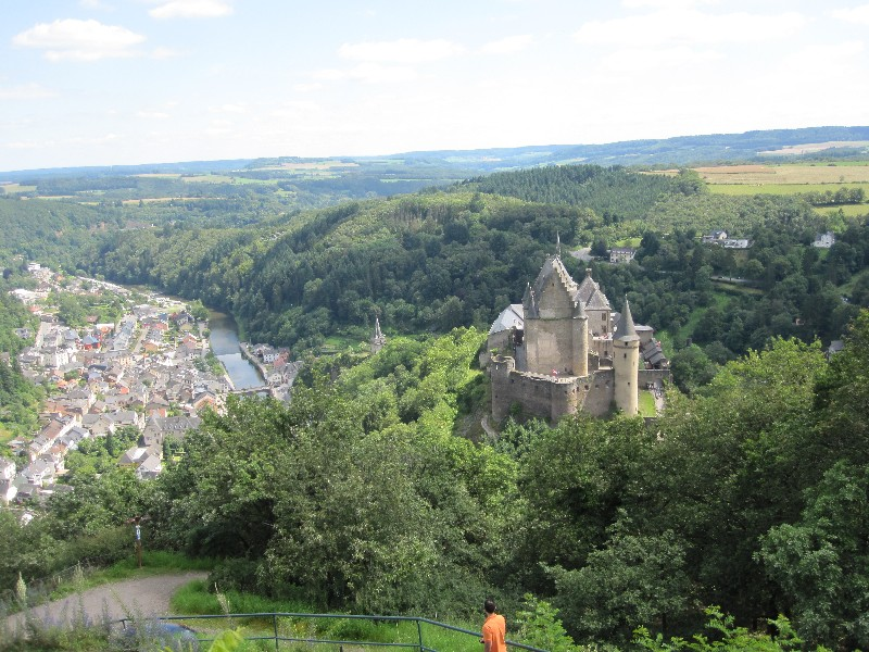Vianden, Luxembourg, viewof the castle surrounded by green trees