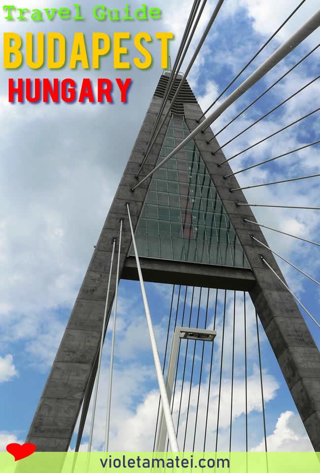 Megyeri Bridge Budapest - detail