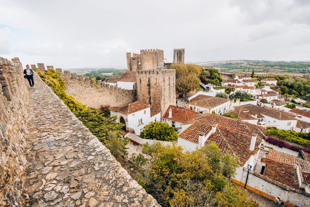 Obidos Portugal - a walk on the city walls