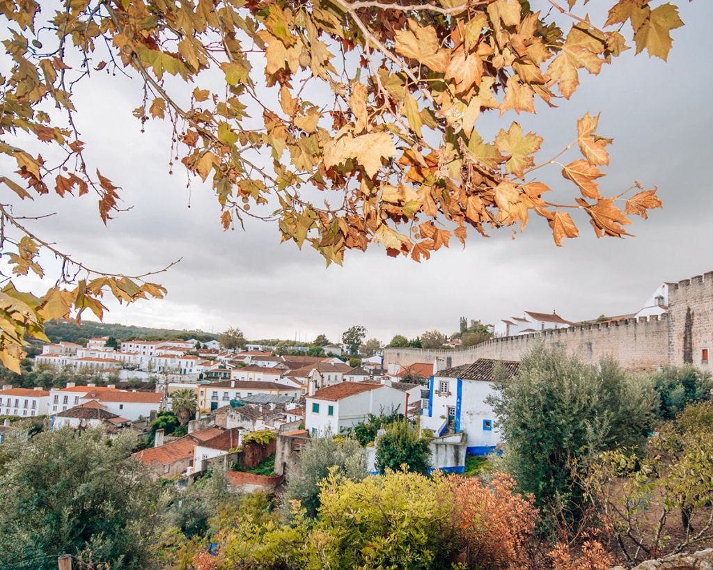 Obidos Portugal is one of the most beautiful historic towns you can visit in a day trip from Lisbon.