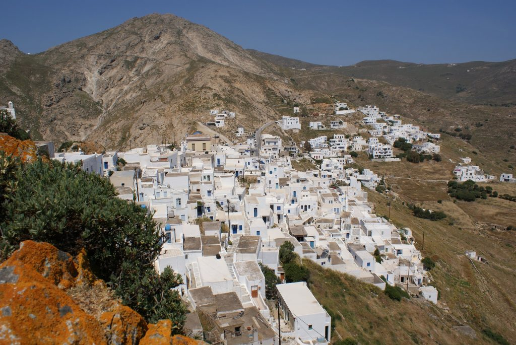 Whitewashed village on Serifos island
