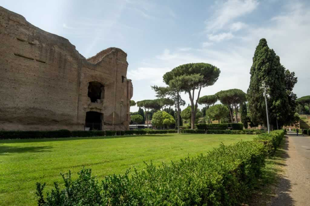 Walkway to the Baths of Caracalla in Rome