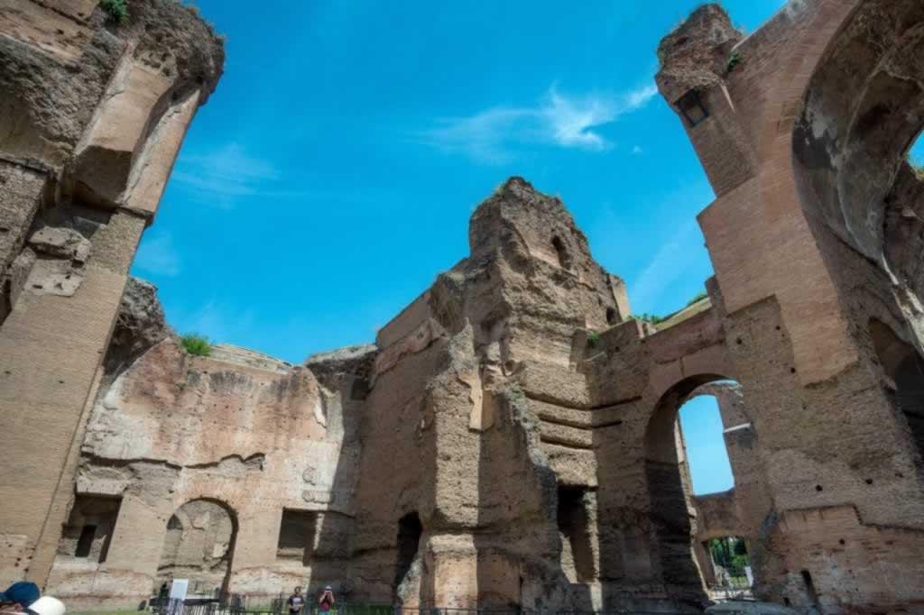 Rome ruins of Caracalla baths