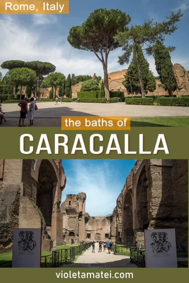 The Baths of Caracalla in Rome - photos, details and visiting guide