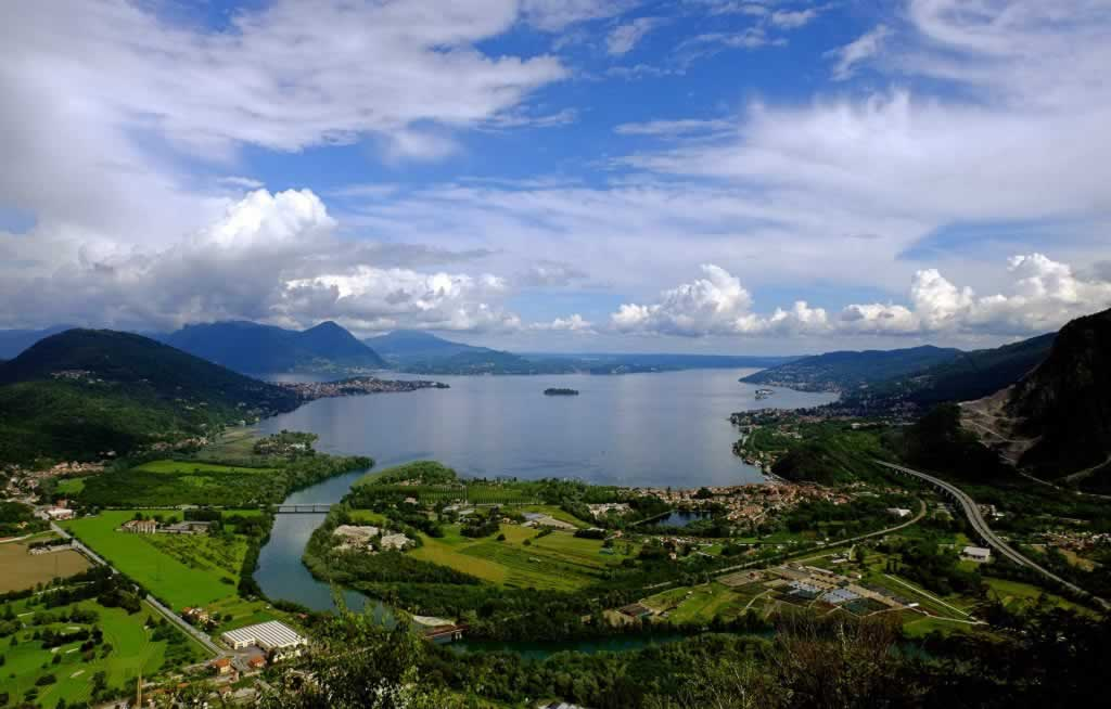 Stresa, Lago Maggiore, Nothern Italy Itinerary aerial view