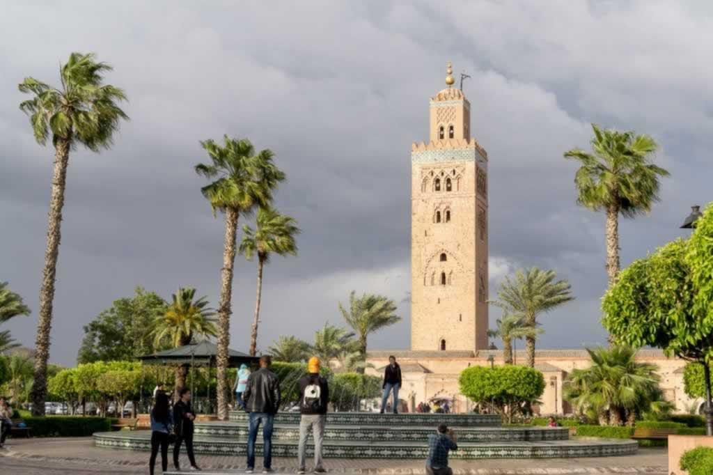 Marrakech La Koutubia in Storm