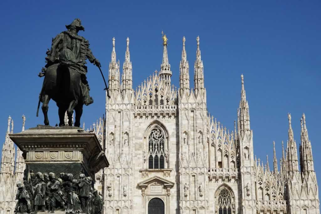 Milan, Northern Italy, Dome with statue