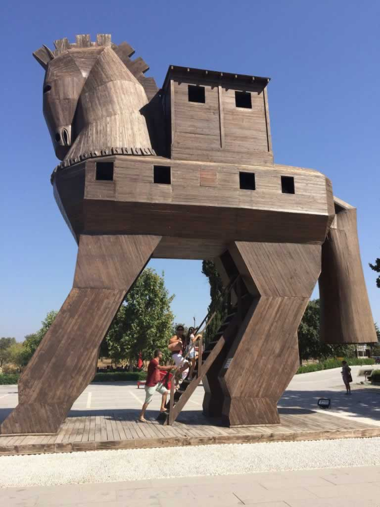 The Trojan Horse reconstructed at Troy, in Turkey