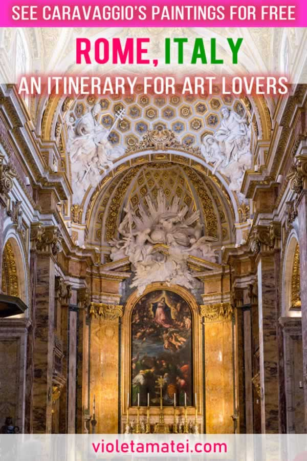 A Rome itinerary to see the paintings of Caravaggio in churches, for free