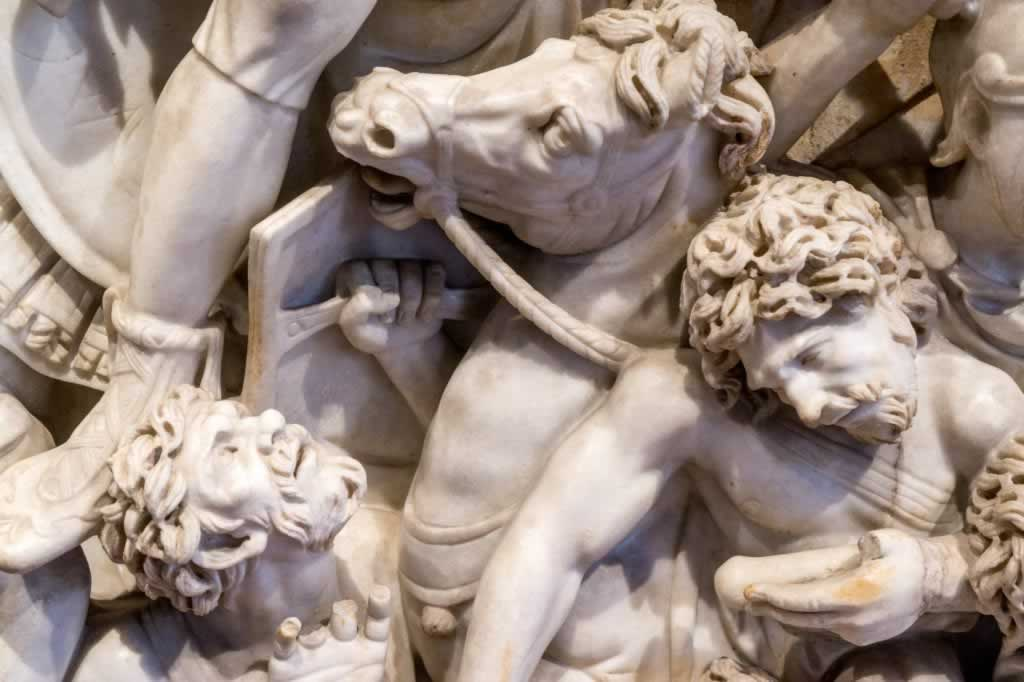 The Grande Ludovisi Sarcophagus detail with barbarians