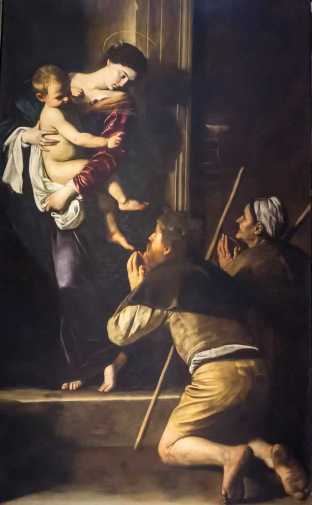 Caravaggio's painting, Madonna of Loreto