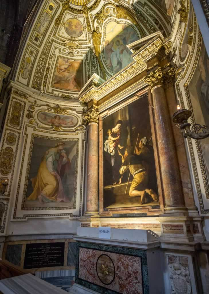 Caravaggio's painting, Madonna of Loreto in Rome