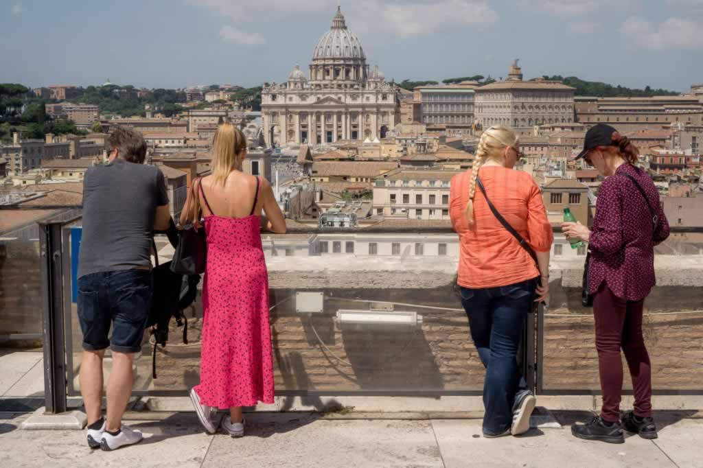 Rome panorama from the top of Castel Sant' Angelo