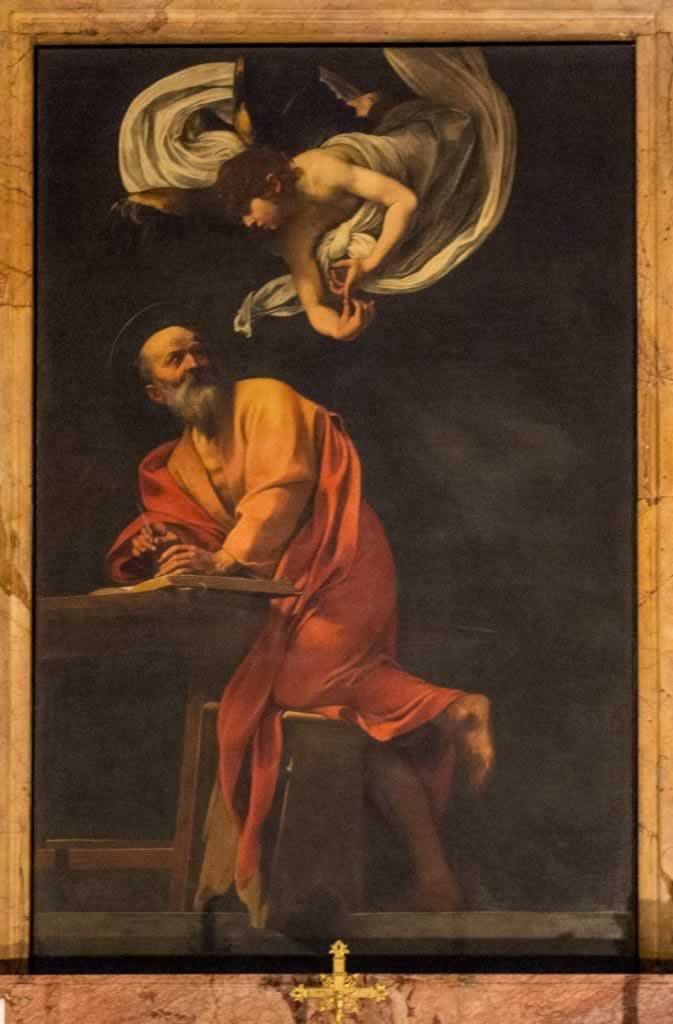 Inspiration of Saint Matthew by Caravaggio