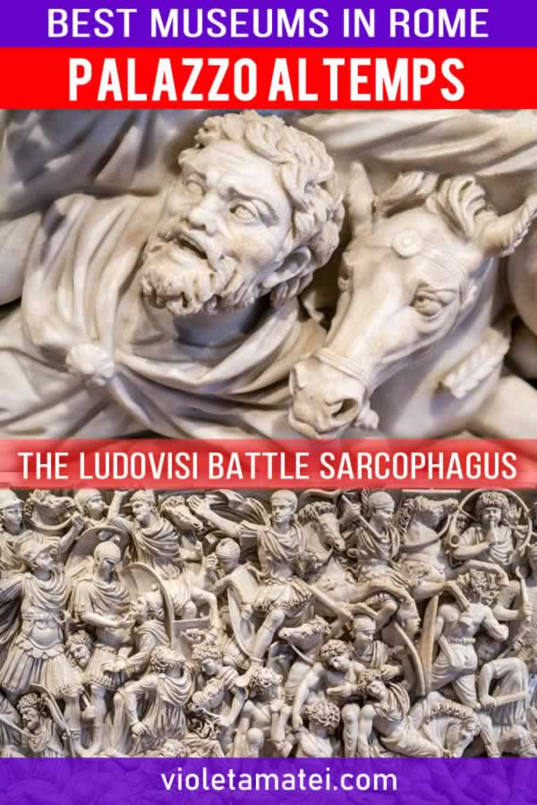 The Ludovisi Battle sarcophagus in Rome, in Palazzo Altemps