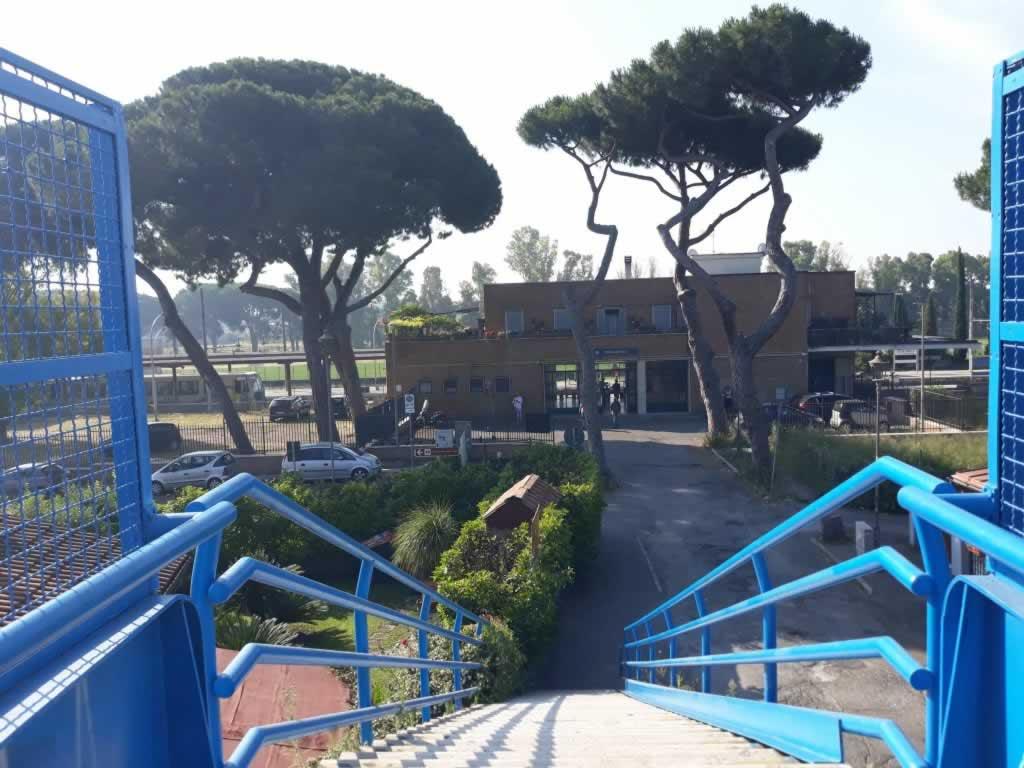 The bridge leading to Ostia Antica