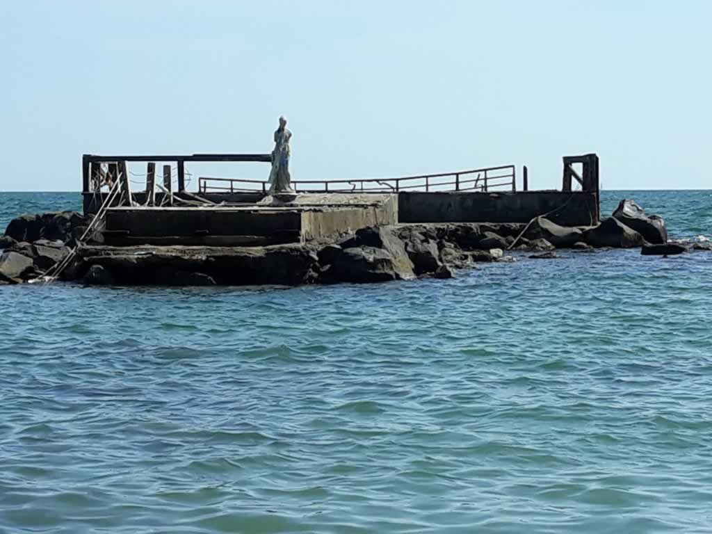 The Statue on Ostia Beach near Rome