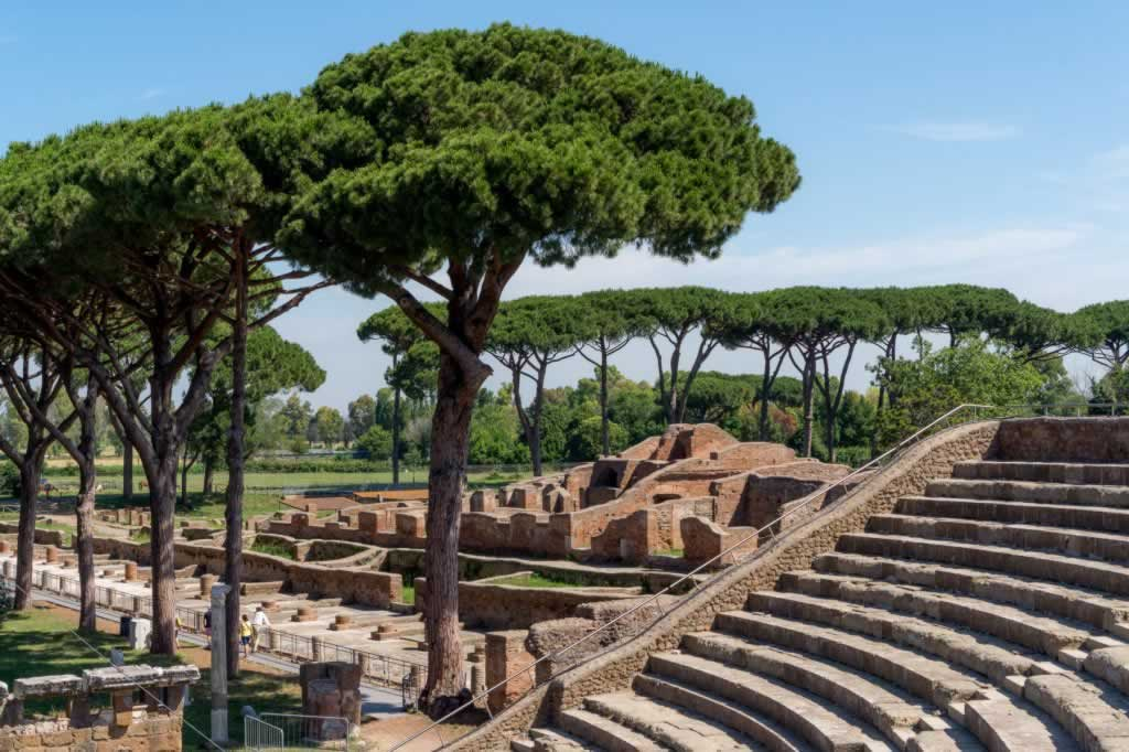 ostia antica day trip from rome - concert stage