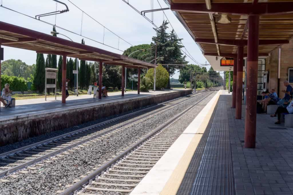 Ostia Train Station in the morning