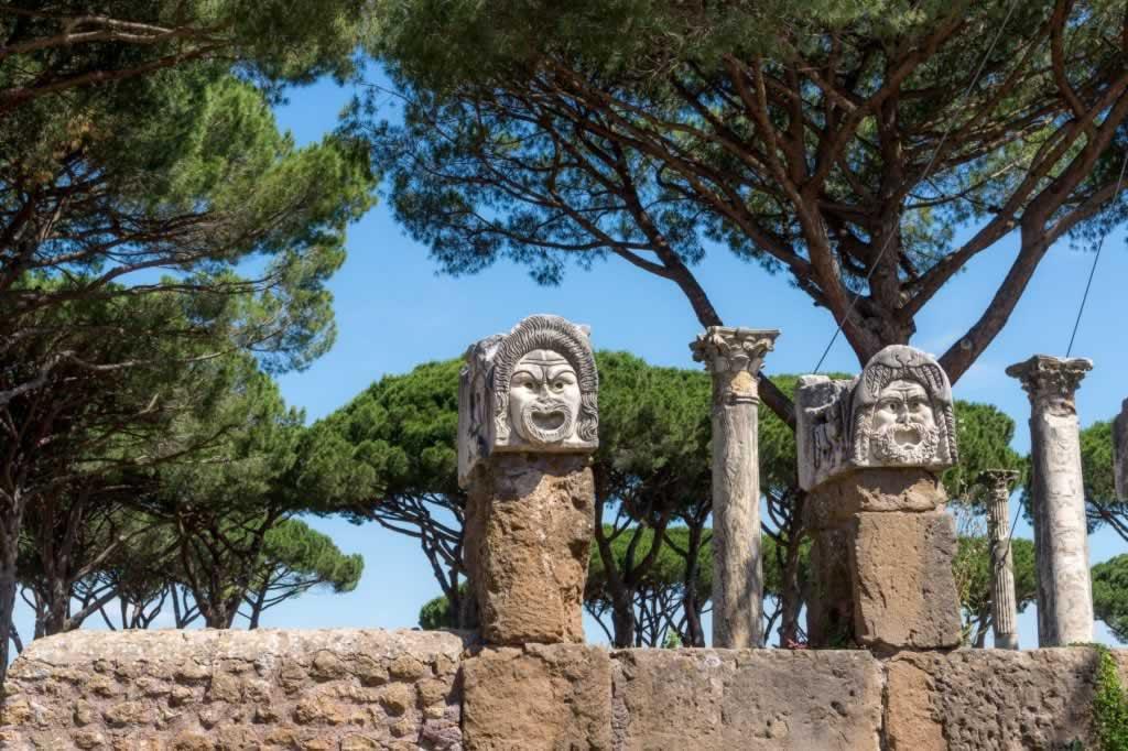 Statue Heads in Ostia Antica