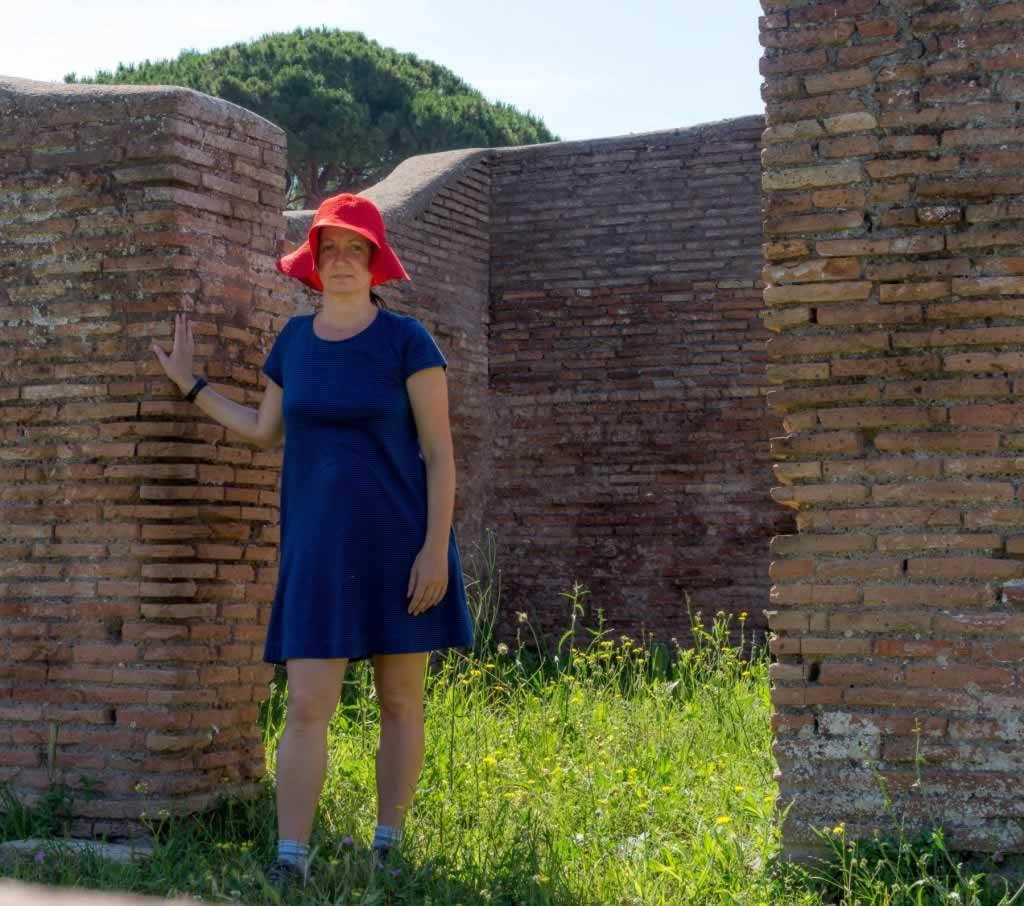Violeta at Ostia Antica