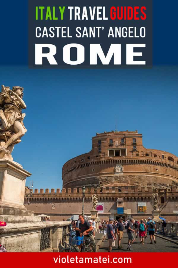 Castel Sant' Angelo in Rome, a brief visiting guide and overview of the main rooms and of the history of this castle.