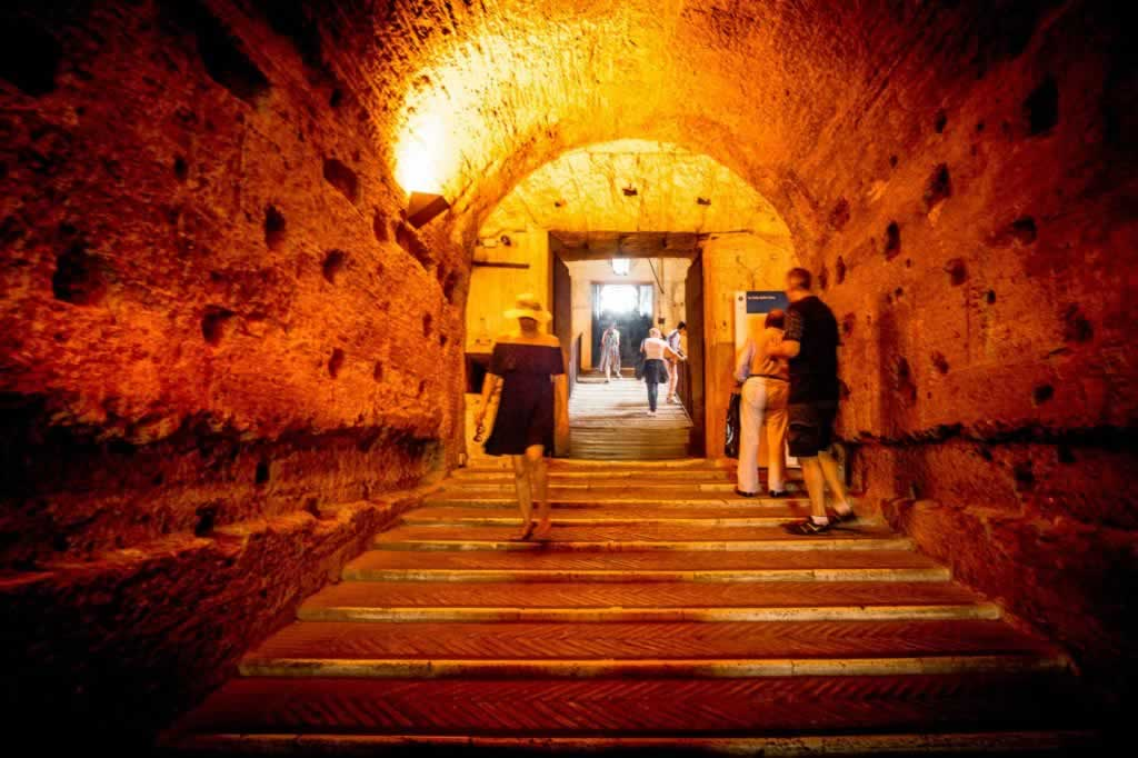 Castel Sant' Angelo path to Hadrian's Mausoleum cylinder