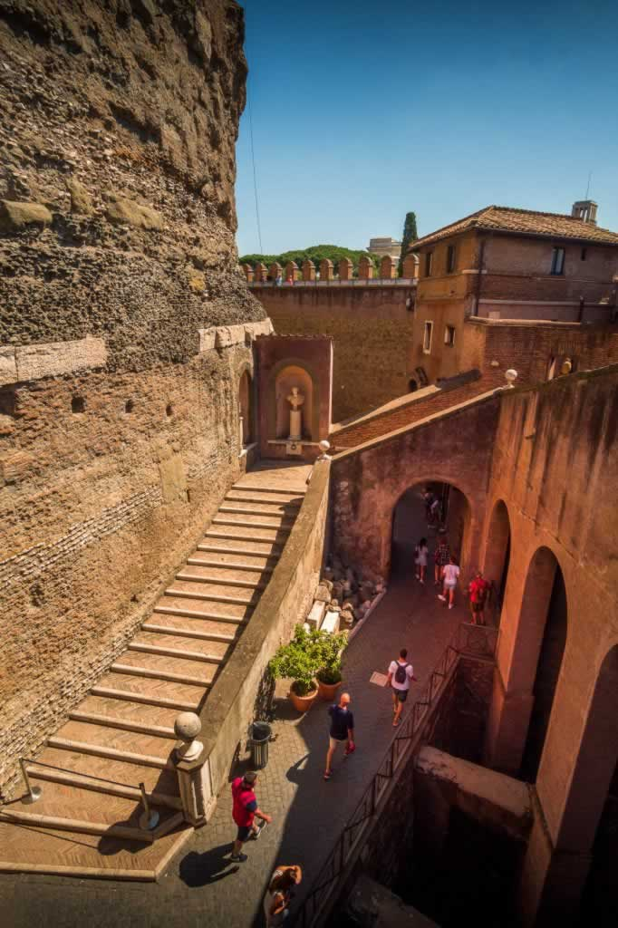 Castel Sant' Angelo interior stairs and archways