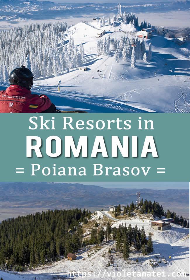 Skiing in Romania, in Poiana Brasov