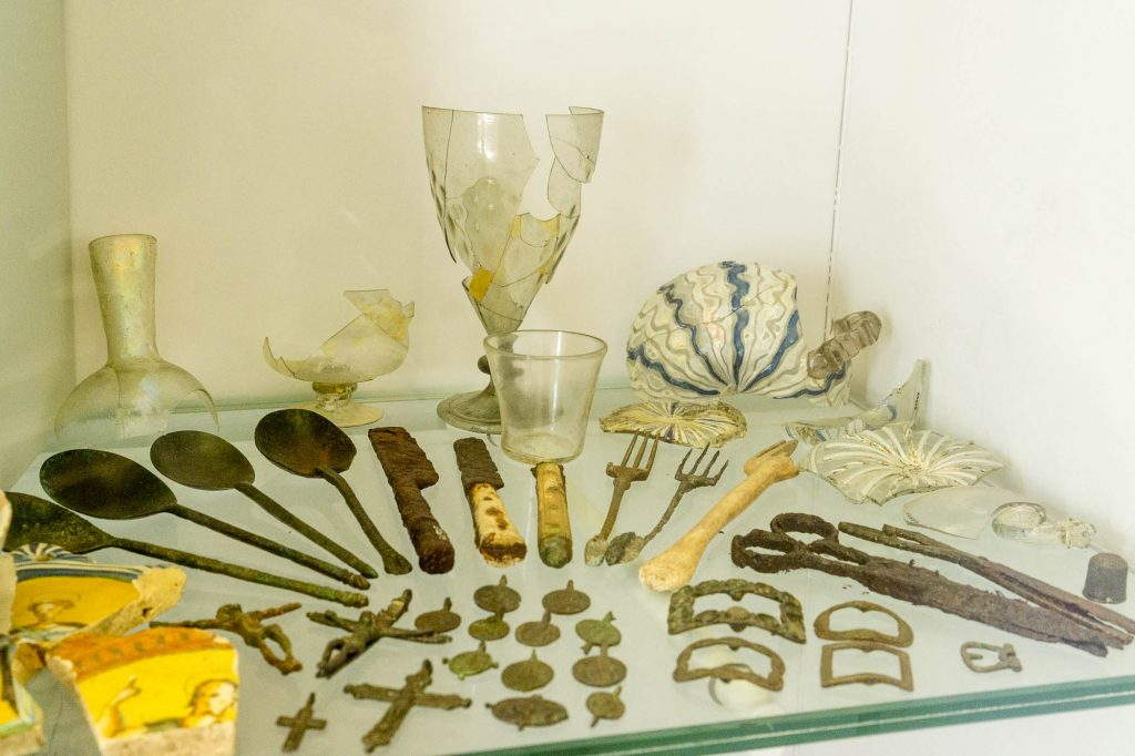 Crypta Balbi museum in Rome showcases many artifacts from ancient times