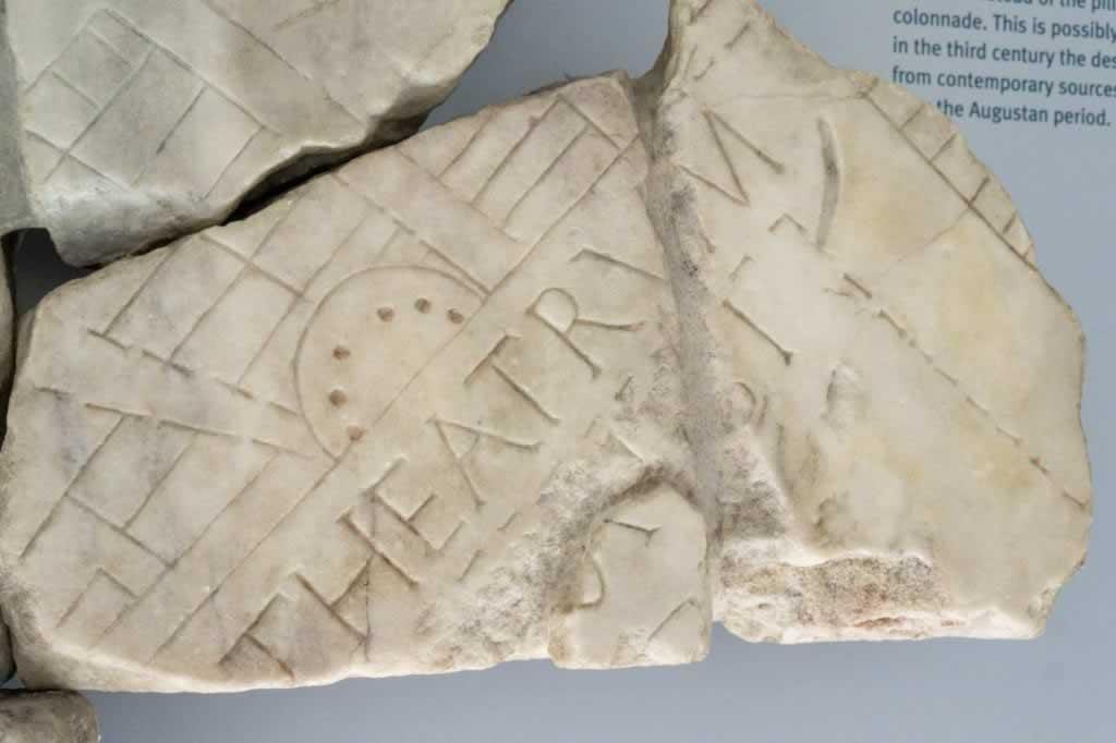 crypta balbi teatrum stone plan