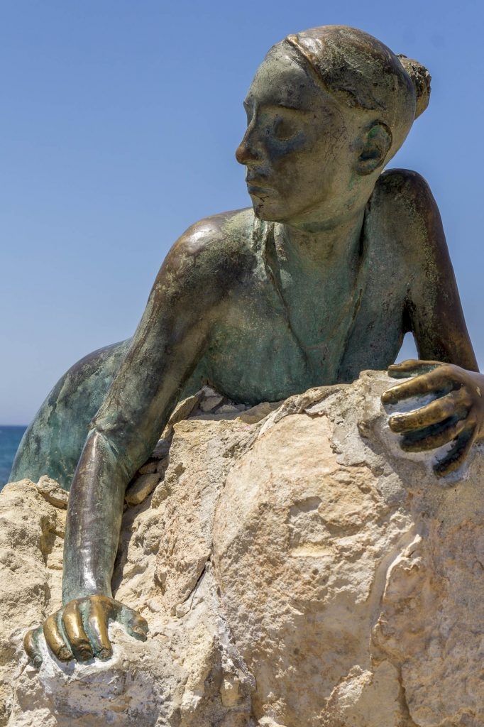 This statue guards the Paphos Castle