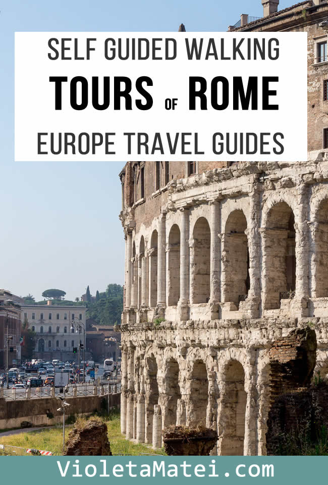 Rome walking tours self guided. Visit the Jewish Ghetto, Tradtevere and many other places in the old Rome